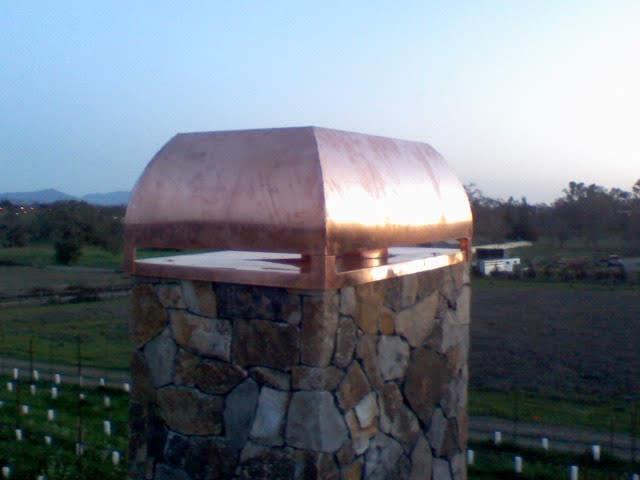 Custom Copper Chimney Metal Fabrication 001