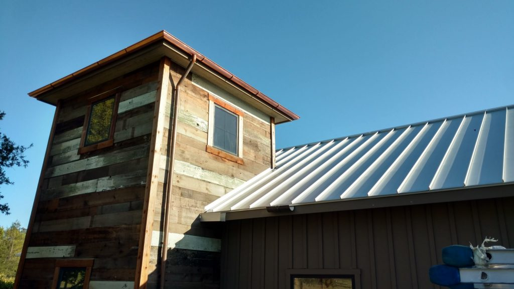 Metal Roof dunn seamless gutters sonoma county