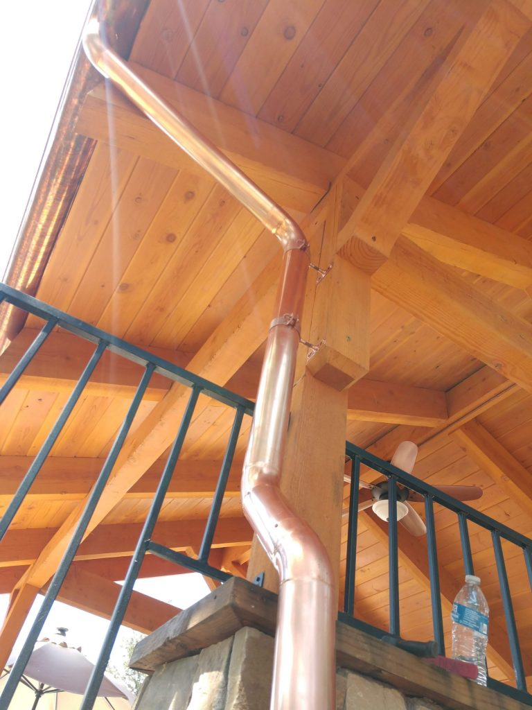 2″ ROUND downspout by dunn seamless gutters santa rosa ca