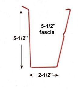 """5.5"""" fascia gutter dimensions"""