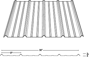 TFR-36 Metal Roof Panel